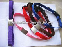 plain yellow-chocalate-purple-blue-red-pink nylon dog collar ,pet collar