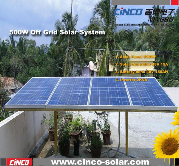 Pannello solare palo di montaggio del sistema, 500w off ...