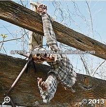 severed hanging torso halloween decoration