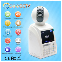 Network Video Call IP Camera Motion Detection alarm robot IP Camera For shop security night vision