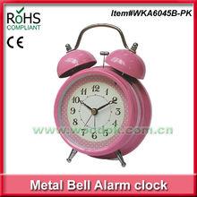 12.5x18cm Woodpecker wholesale alarm clocks pink metal ring clock alarm clock