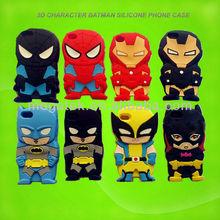 mobile phone case Batman 3d character phone case for iphone 5, for iphone case silicone, for iphone 5s case silicone 3d