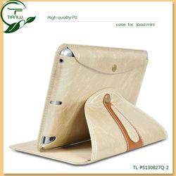 Fashion PU leather case for IPAD Mini luxury design leather case for ipad mini