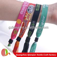 Handicraft fabric woven festival name wristbands for Christmas beach party