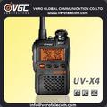 ประเทศจีนราคาถูก2wdualbandแฮมเครื่องส่งสัญญาณfmเครื่องส่งรับวิทยุuv-x4