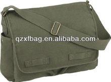 vintage canvas military explorer messenger field bag