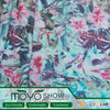 Tencel cotton linen blended printed fabric for fashion dresses
