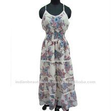 Floral Chiffon Blend Dress Women Wear Sun Clothing S M