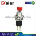 Pbs-105 küçük kırmızı kırık-( on) 2 pinli anlık 0.5A çalıştırma durdurma elektrik düğmesi marş anahtarı 7mm