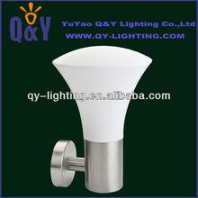 2013 popular modern outdoor wall light CE Rohs certificate exterior lamp IP44 stainless steel PC E27 lighting fixture