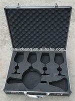 Elegant aluminum wine carrying case with eva mould RZ-C223
