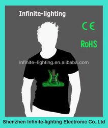 Wholesale el equalizer shirt/flashing led t-shirt online shopping