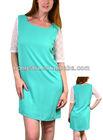 Mint color Crochet yoke 3/4 sleeves Dress for women HS1767
