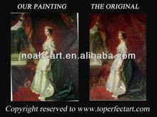 Lady oil painting on linen canvas for wall decoration