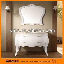 Professional modern wooden mirrored storage cabinet furniture