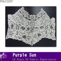cotton ladies neck design lace embroidery