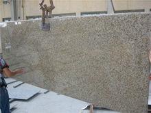 Brazil Yellow Granite Giallo Veneziano Granite Kitchen Countertops flat edge
