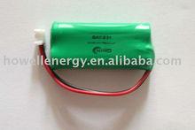 4.8v 600mah ni-mh aaa battery pack /4.8v aaa nimh battery