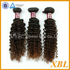 Fashionable human hair type, brown color Brazilian remy hair extensions