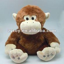 Valentine Day Funny Fuzzy Plush Monkey