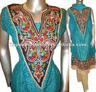 Ladies Designer Cotton Dress (Full Sleeve) with Churidar Pajama ( 3 pcs suit )