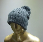 winter fashion knitted crochet hat with ears