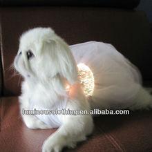 lovely lace fiber optical fabric soft dog clothing