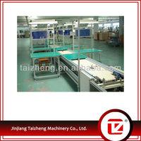 Shoe bottom attaching conveyor shoe production line