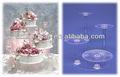 claro soprte de pasteles de boda de acrílico redondo