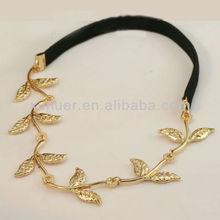 Western fashion new design gold leaf hair band