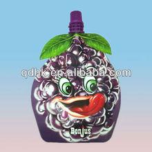 nylon lldpe laminated special shape fruit beverage plastic bag manufacturer