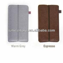 Leather anti-radiation handset function shielding bag