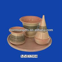 2013 Fashion Jewish Havdalah 3pcs Set Ceramic Washing Cup