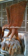 thailandia aquila stand in legno intagliato sulla base di fatti a mano handcarved animale di legno prodotto ecuador