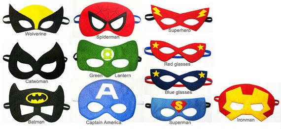 fieltro máscara de superhéroe-Máscaras de parte-Identificación del