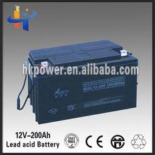 Good quality deep cycle solar battery 12v 200ah