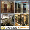 new design luxury style china stainless steel partition decorative metal fireplace screen