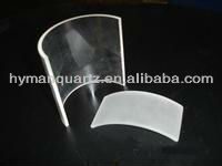 Further processing circular arched quartz plate for barbecue ,Arc quartz plate for smokeless barbecue stove,