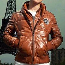 2012 Man Genuine Leather Jacket Autumn Winter Style