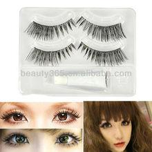 Fashion Makeup False Eyelashes Extension Long Lashes+ Eyelash Glue