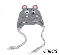 fashion animal fleece warm baby hat,lovely pippo hat have stock