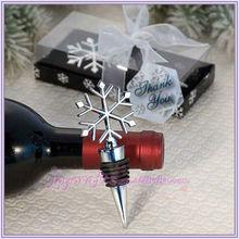 Snowflake Design Wine Bottle Stopper Favor