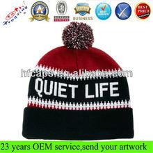 jacquard men knit designer beanie hats for men