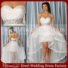 KR036 Sweetheart Backless Organza Beaded Sexy Short Wedding Dresses