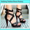Sexy black high heel sandals for women