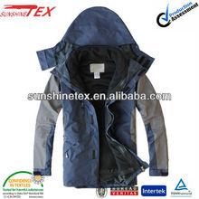 Hommes 2 en 1 veste extérieure imperméable à l'eau, Hiver chaud vêtements ( 13C-128 )