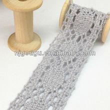 light grey cotton lace