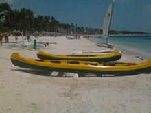 Canoas con fondo de vidrio