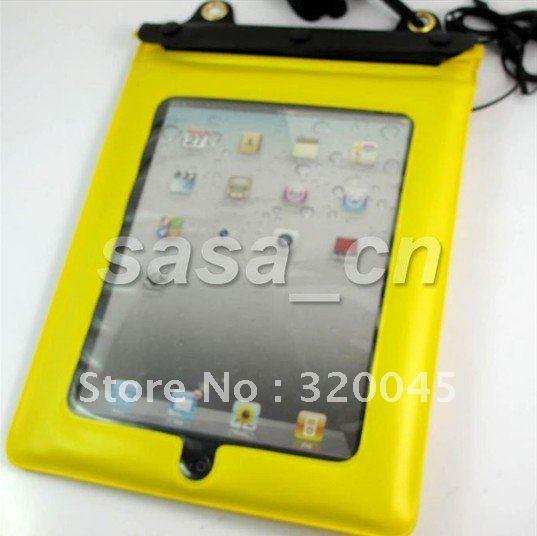 Diving PVC Waterproof Case Bag with Waterproof Earphone for ipad 2 2nd 10 pcs lot