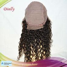 aaaaa human hair full lace wig fashionable deep wave 100% human lace wig